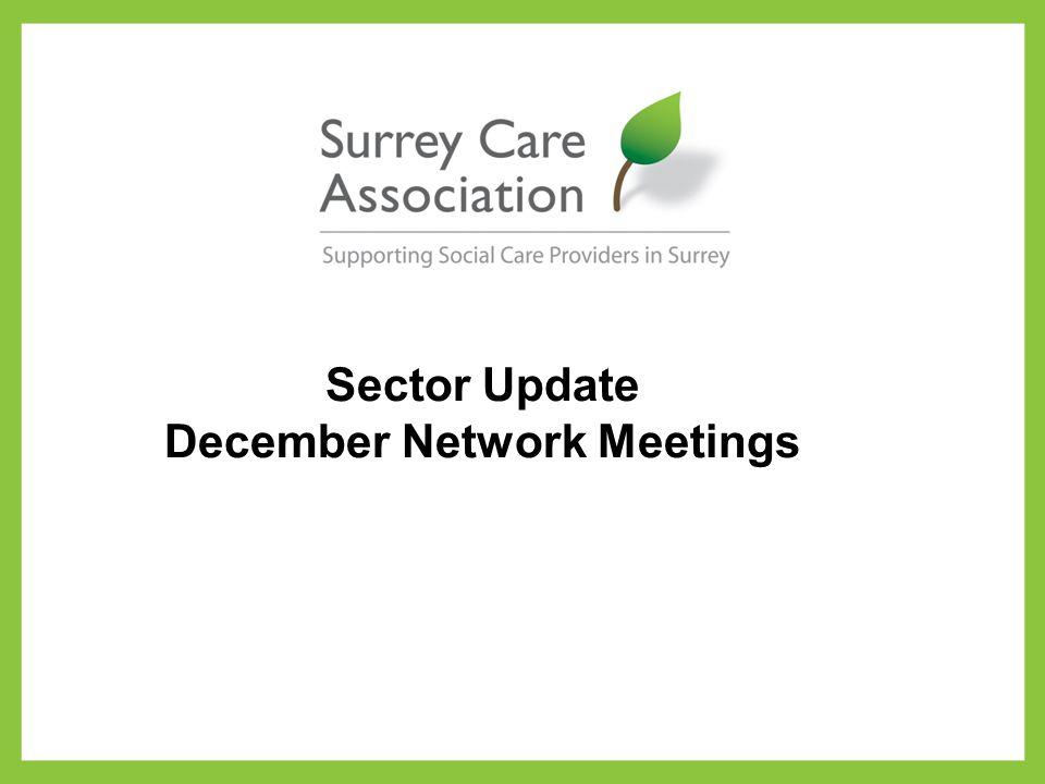 Sector Update December Network Meetings