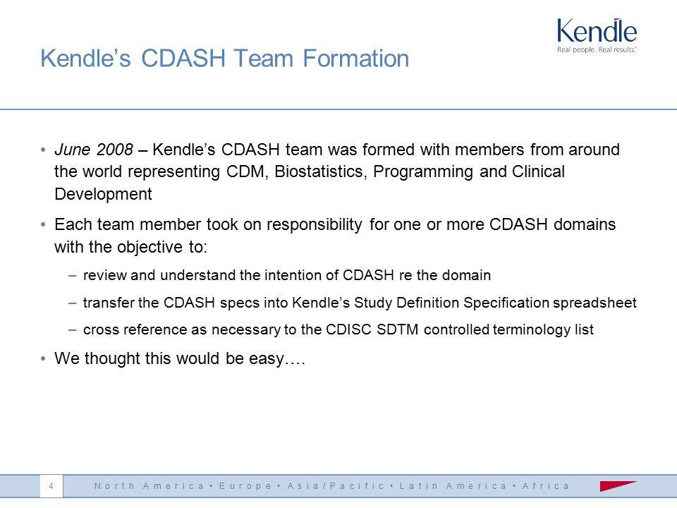 N o r t h A m e r i c a E u r o p e A s i a / P a c i f i c L a t i n A m e r i c a A f r i c a 3 CDASH Draft Published April 2008 - CDISC put the dra