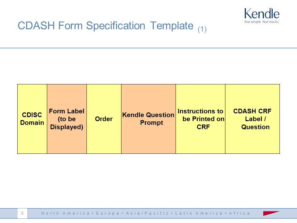 N o r t h A m e r i c a E u r o p e A s i a / P a c i f i c L a t i n A m e r i c a A f r i c a 4 Kendle's CDASH Team Formation June 2008 – Kendle's C