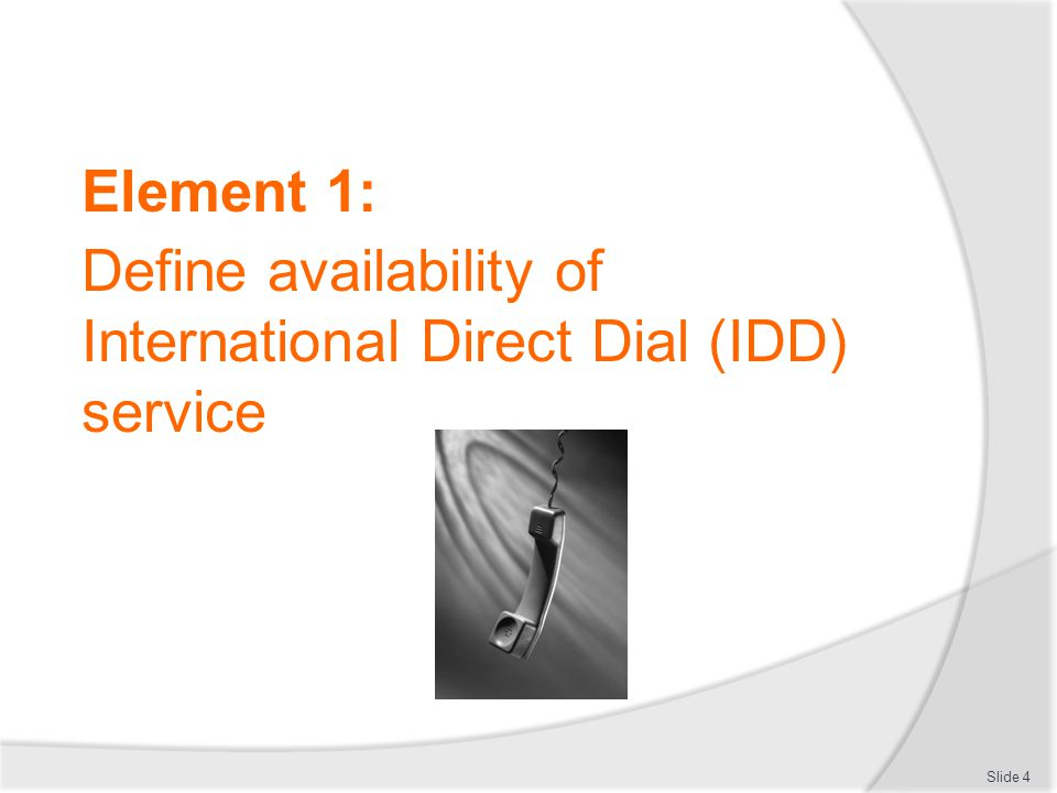 IDD service restrictions Notifying guests of possible restrictions  There are times where restrictions may apply when trying to use IDD services  These restrictions must be identified and explained to customers, ideally with possible solutions or suggestions, enabling them to make calls with minimal disruption Slide 15