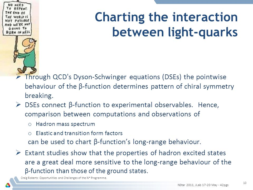 Charting the interaction between light-quarks  Through QCD s Dyson-Schwinger equations (DSEs) the pointwise behaviour of the β-function determines pattern of chiral symmetry breaking.