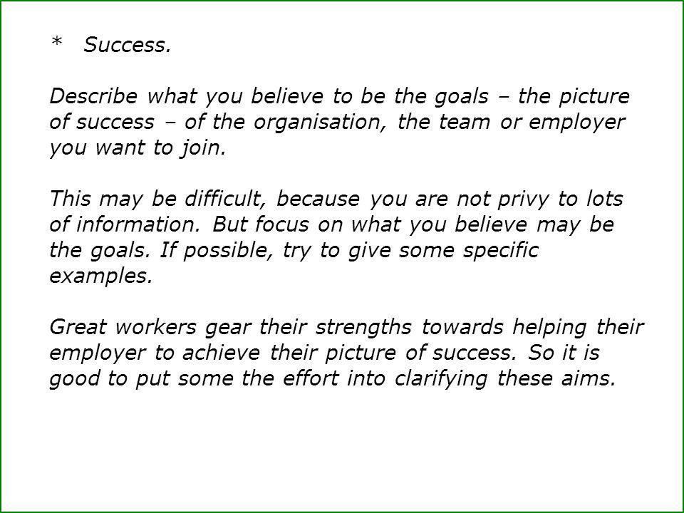 *Success.