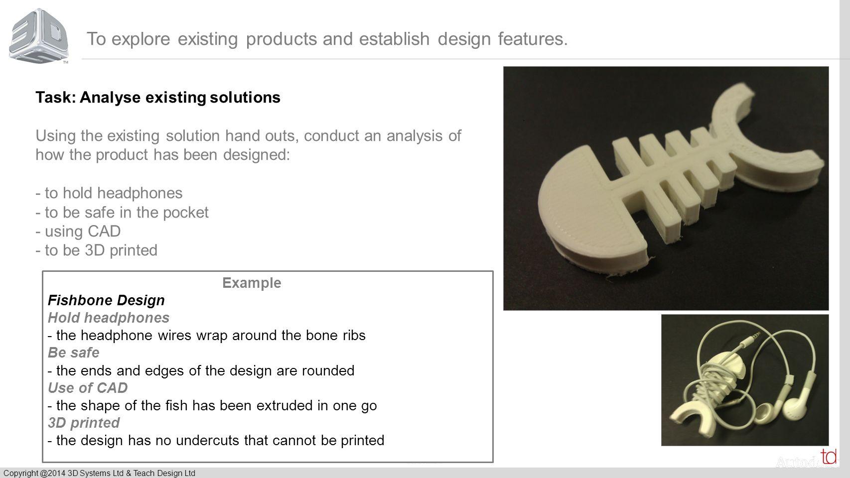 © 2012 Autodesk Copyright @2014 3D Systems Ltd & Teach Design Ltd To develop communication skills.