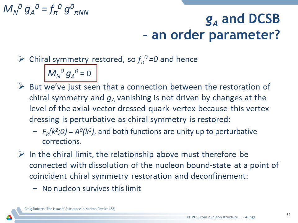 g A and DCSB – an order parameter.