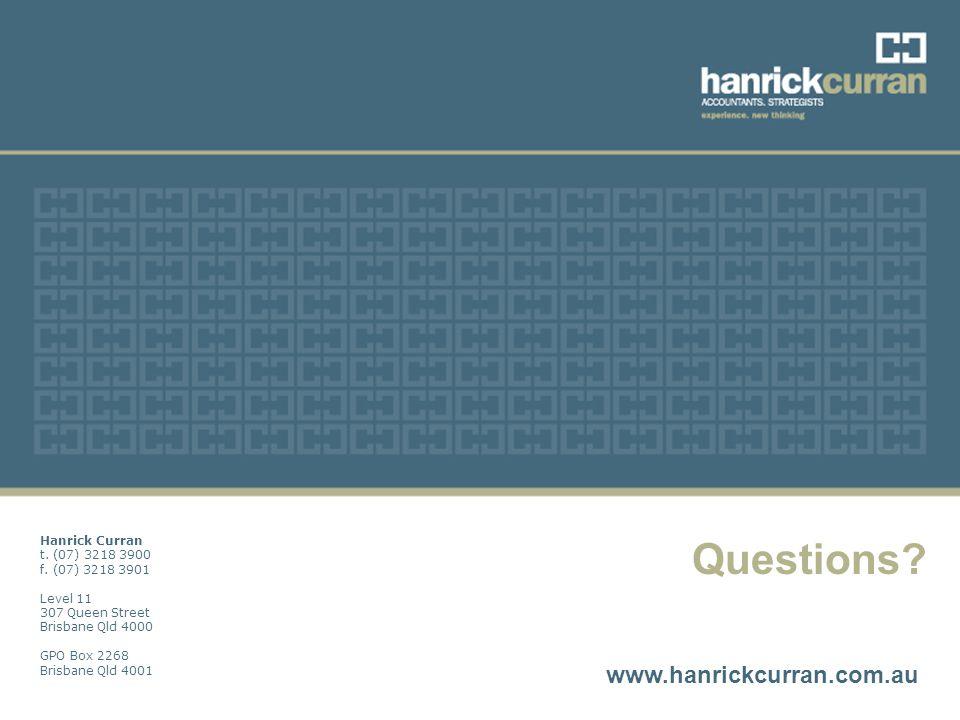 Topic \\ Date Questions. www.hanrickcurran.com.au Hanrick Curran t.