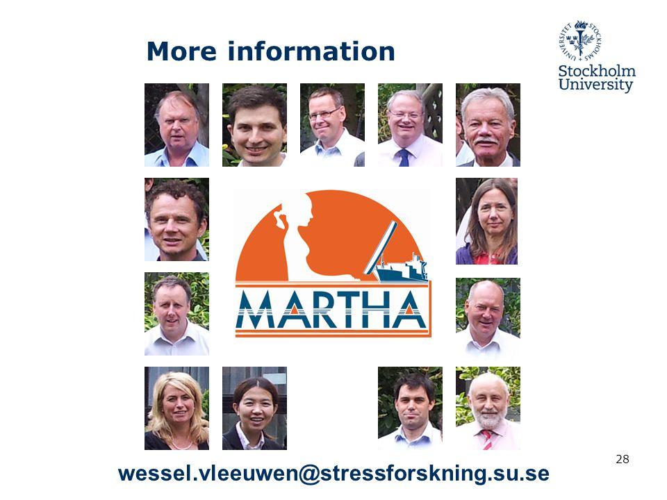 28 More information wessel.vleeuwen@stressforskning.su.se