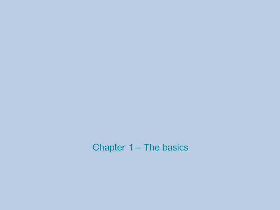 Chapter 1 – The basics
