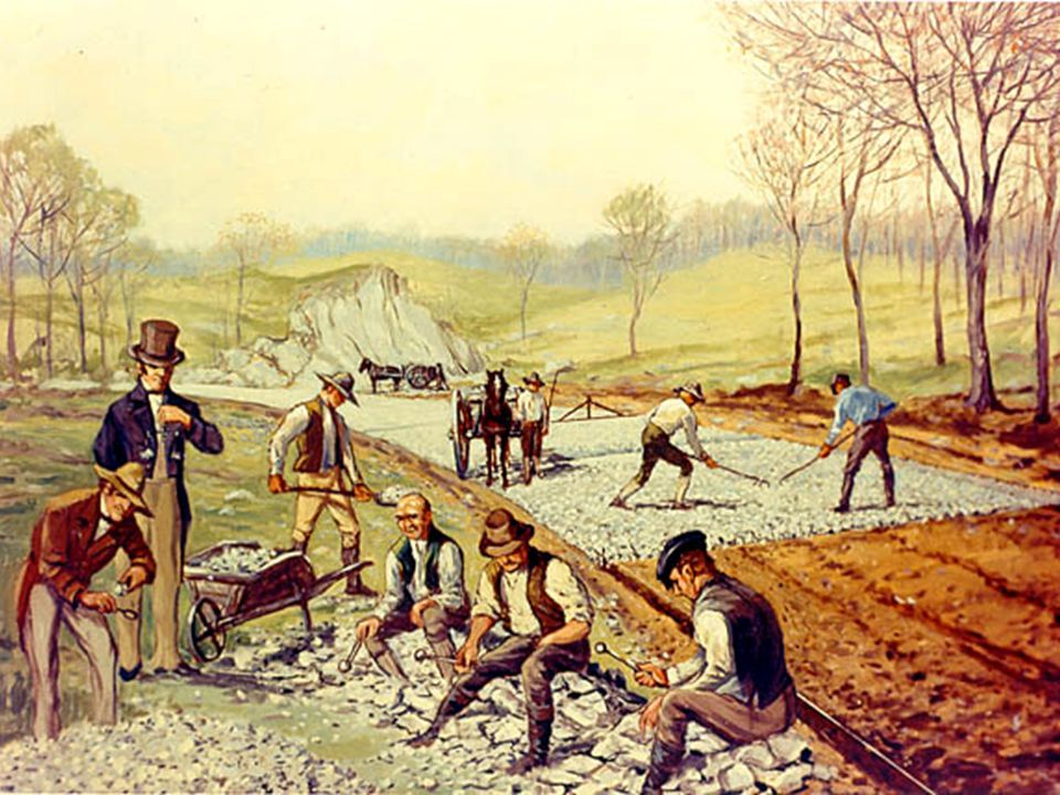  1830 – Stephenson's Rocket train traveled the 40 miles between Liverpool and Manchester in 1 ½ hours  1830-1870 – railroad tracks went from 49 miles to over 15,000 miles  Steel rails replaced iron rails  1869 – Westinghouse's air brake made train travel safer  Greater train traveling comfort – heavier train cars, improved road beds, and sleeping cars