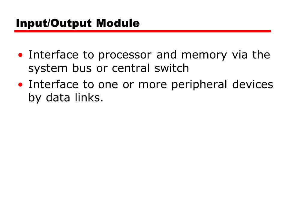 DMA Transfer Cycle Stealing DMA controller takes over bus for a cycle Transfer of one word of data Not an interrupt —CPU does not switch context CPU suspended just before it accesses bus —i.e.