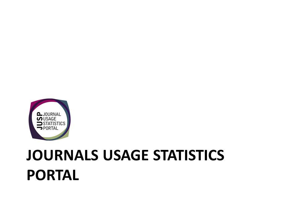 JOURNALS USAGE STATISTICS PORTAL