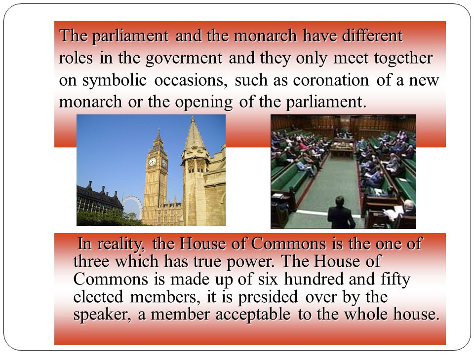 MPs sit on two sides of the hall, one side for the governing party and the other for the opposition.