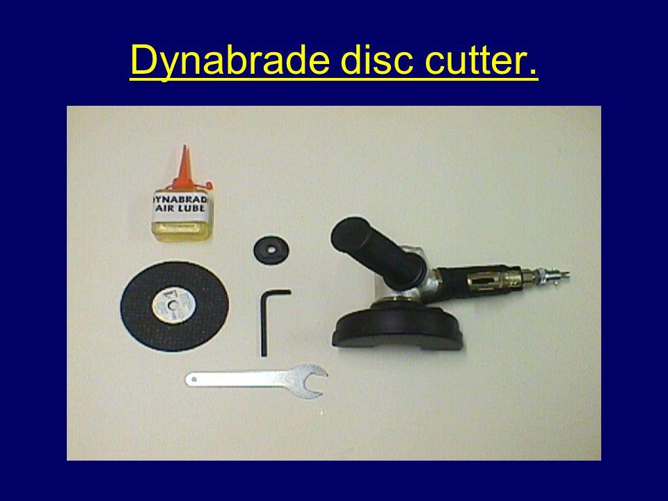 Dynabrade disc cutter.