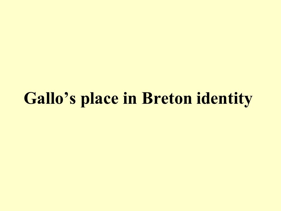 Gallo's place in Breton identity