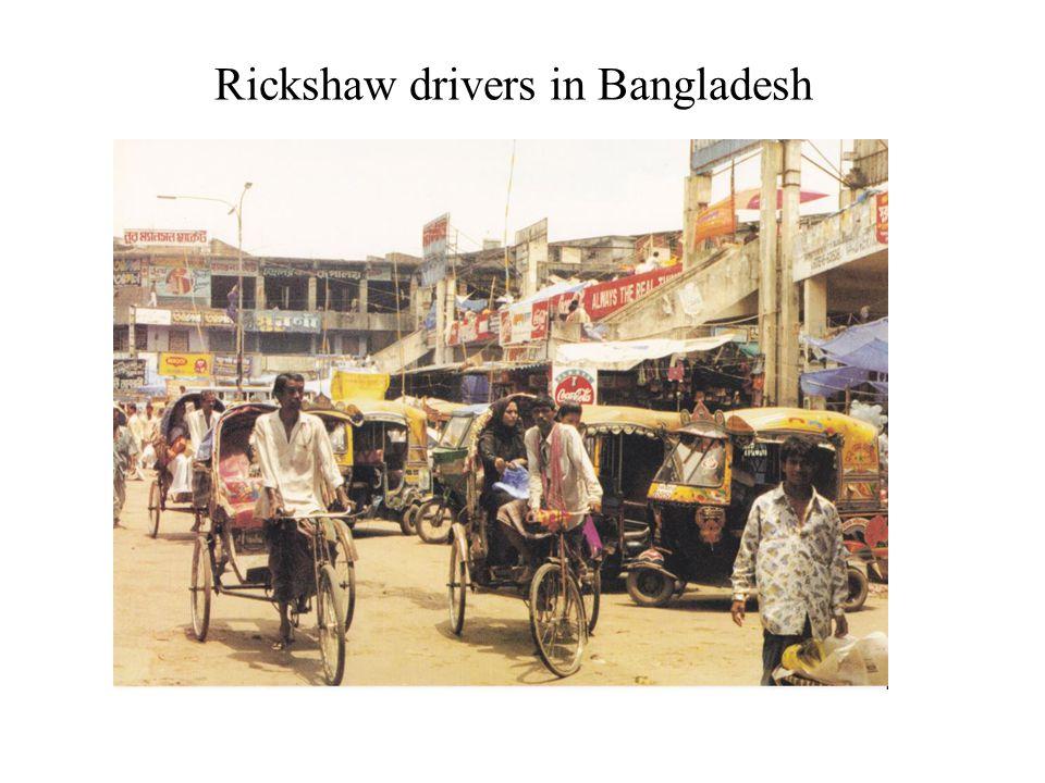 Rickshaw drivers in Bangladesh