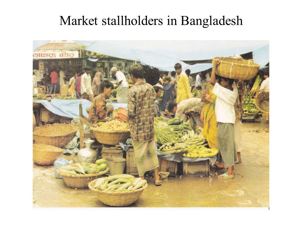 Market stallholders in Bangladesh