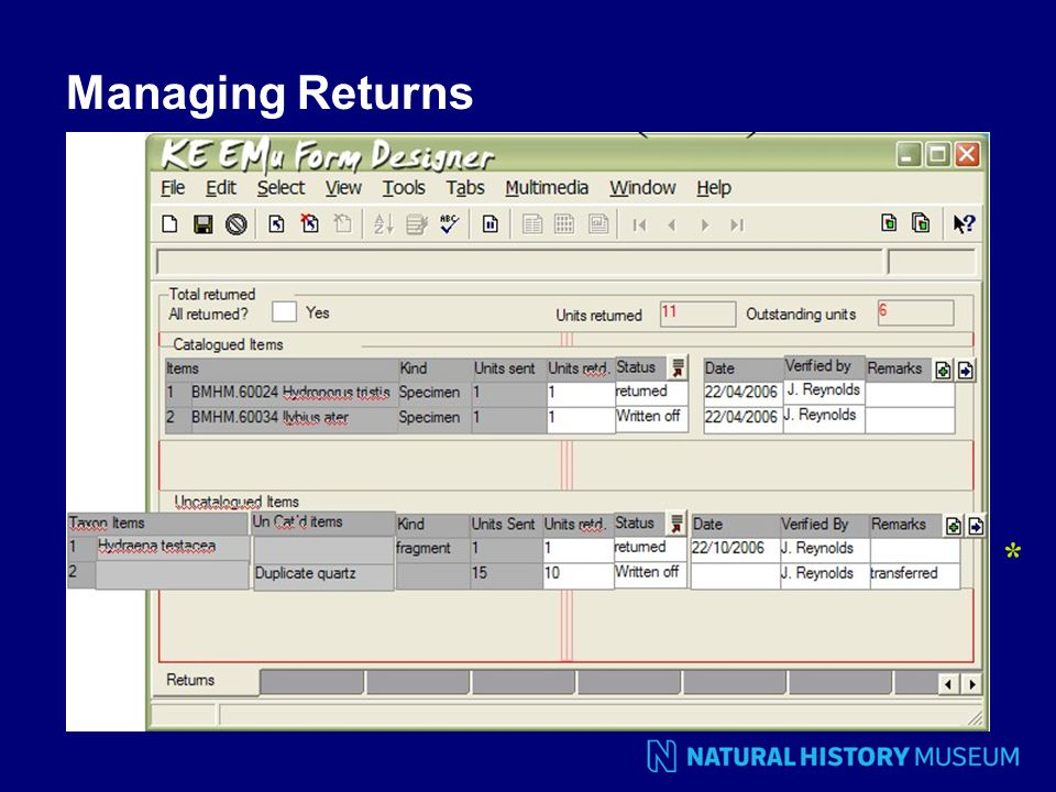 Managing Returns *