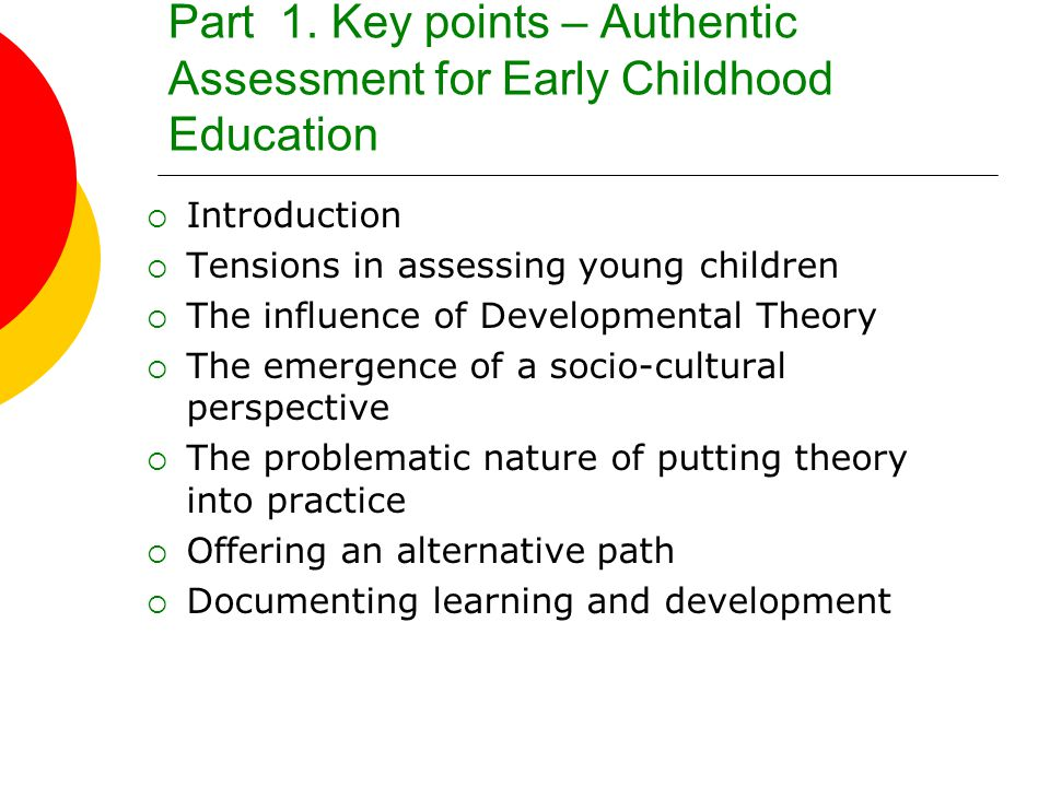 Part 2. Authentic Assessment in Action Kara's Learning Journey