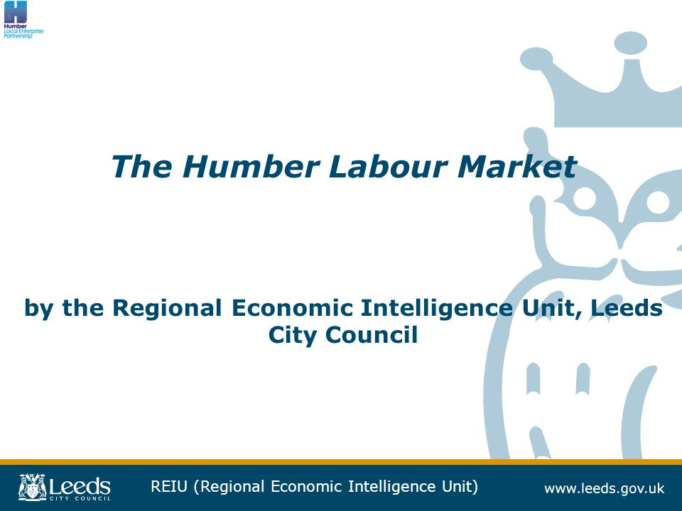 REIU (Regional Economic Intelligence Unit) Context  This report was commissioned by the Humber LEP  It aims to provide an up-to-date insights regarding the labour market.