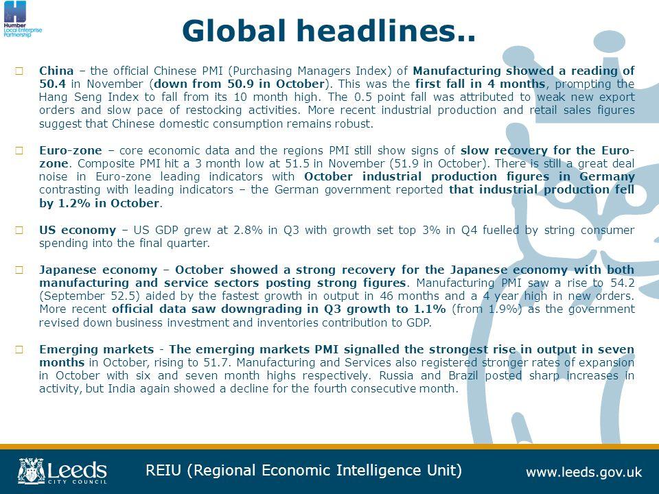 REIU (Regional Economic Intelligence Unit) Global headlines..