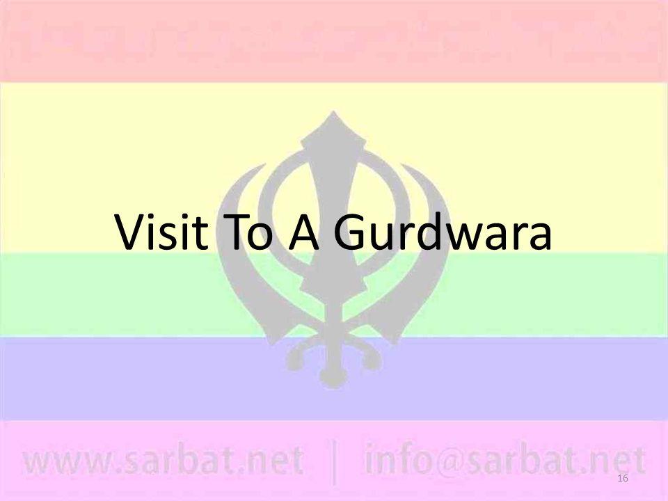 16 Visit To A Gurdwara