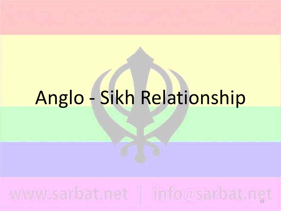 19 Anglo - Sikh Relationship