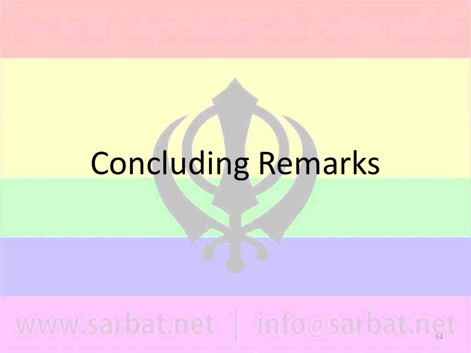 54 Concluding Remarks