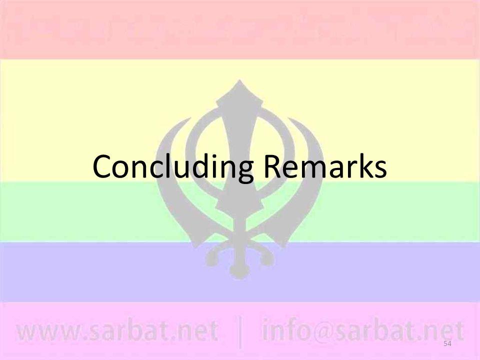 54 Concluding Remarks
