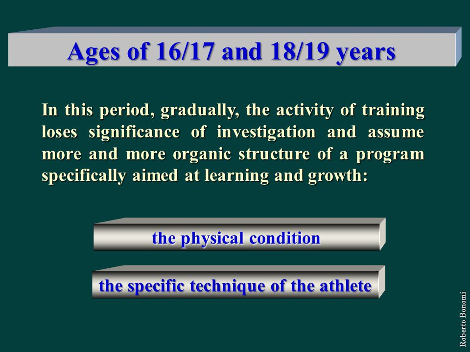 In this period, gradually, the activity of training loses significance of investigation and assume more and more organic structure of a program specif