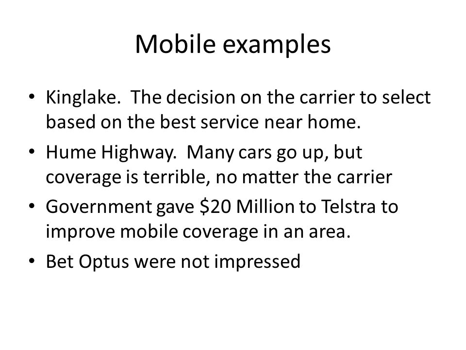 Mobile examples Kinglake.