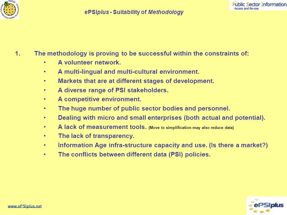ePSIplus - Suitability of Methodology 1.