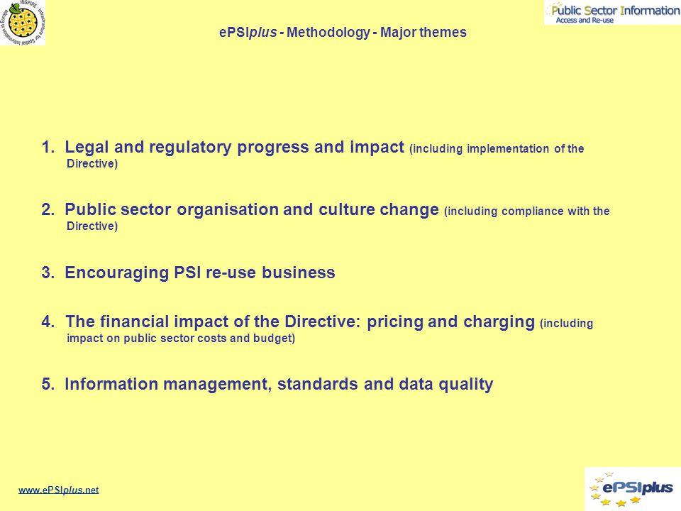 ePSIplus - Methodology - Major themes 1.