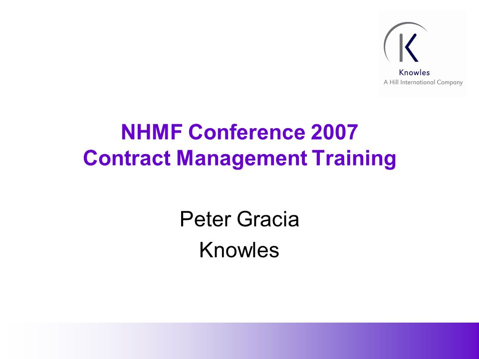 2 Introduction The 2007 NHMF conference brochure reflects the diverse range of topic areas today s construction professionals utilise in undertaking their daily tasks.