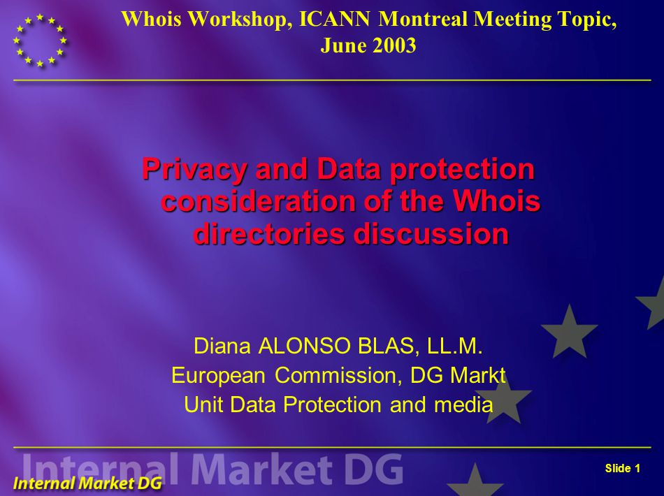 Slide 2 Legal framework in Europe Directive 95/46/EC: general DP directive Directive 2002/58/EC: electronic communications directive (previous 97/66) Many documents of Article 29 Working Party Council of Europe Convention 1981