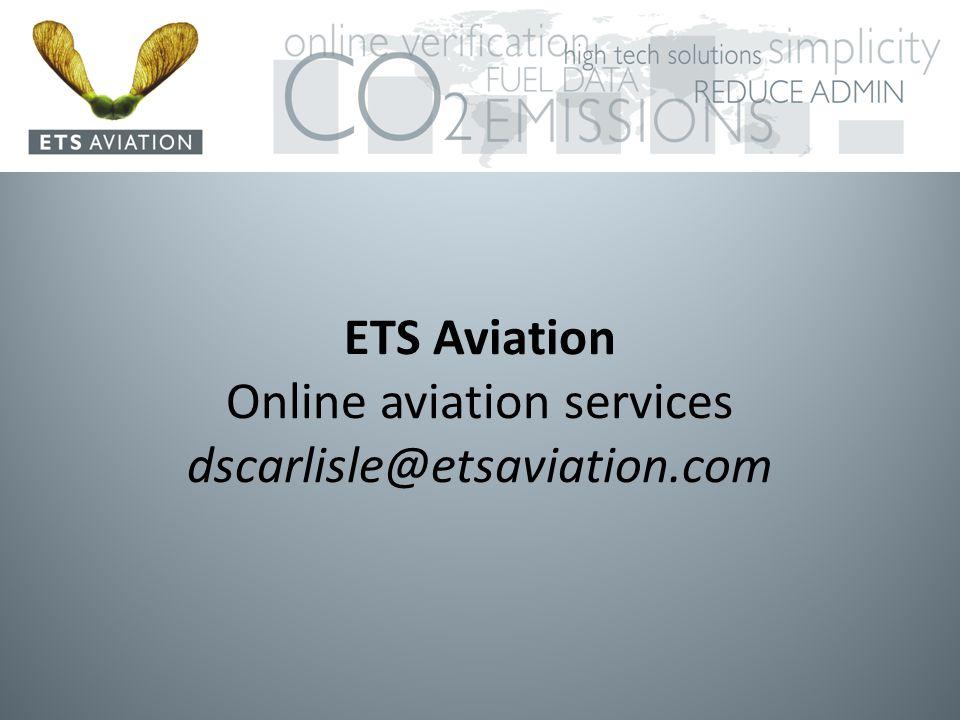 ETS Aviation Online aviation services dscarlisle@etsaviation.com