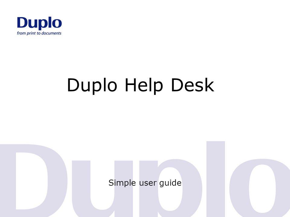 Duplo Help Desk Simple user guide