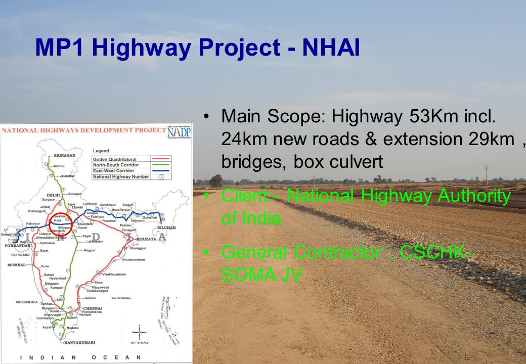 MP1 Highway Project - NHAI Main Scope: Highway 53Km incl.
