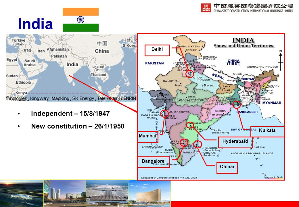General Information of India Total Area : 3.29 Million Sq.