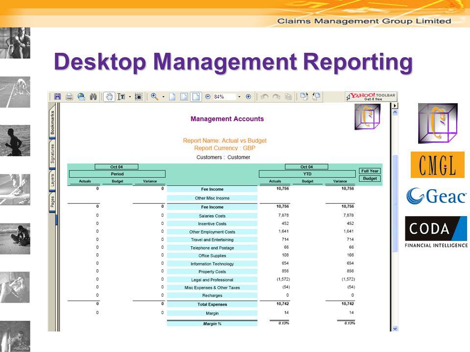 Desktop Management Reporting