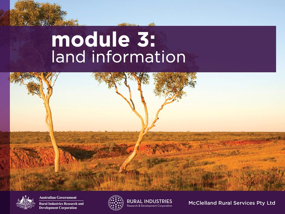 Disclaimer The information contained in the nine (9) PowerPoint presentations is intended for general use to assist qualified Extension Officers to communicate the material covered in the Manual Managing Indigenous Pastoral Lands to Indigenous pastoralists and their advisors and other stakeholders.