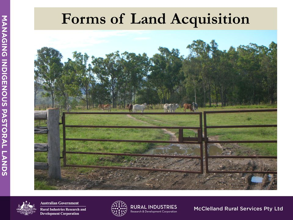 Forms of Land Acquisition