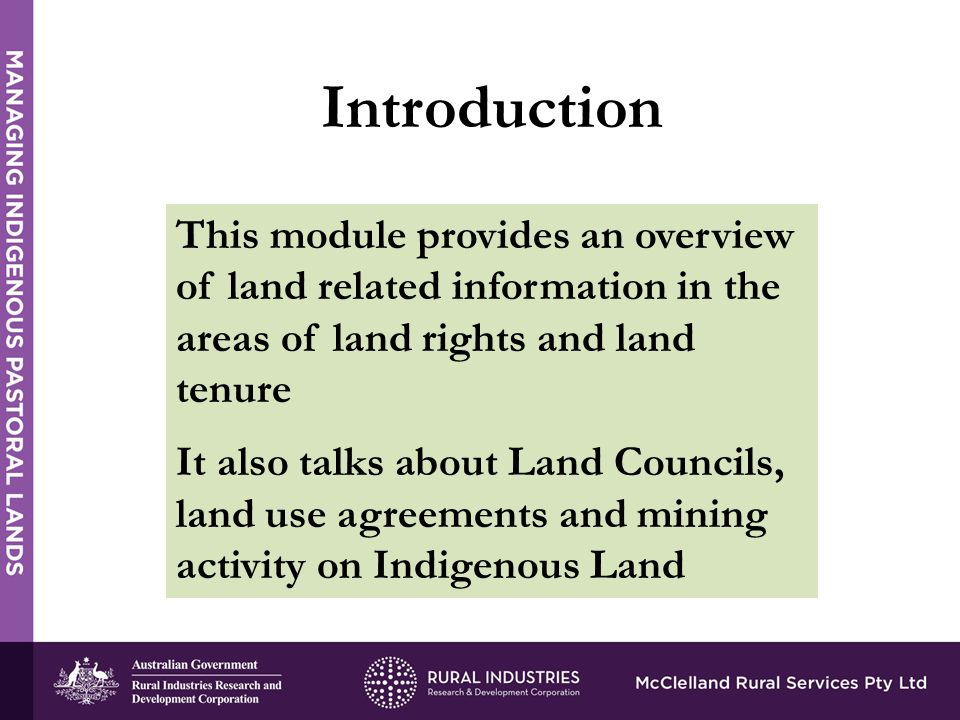 Land Rights And Pastoral Land Holdings