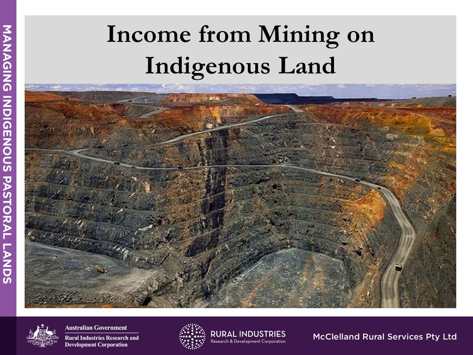 Income from Mining on Indigenous Land