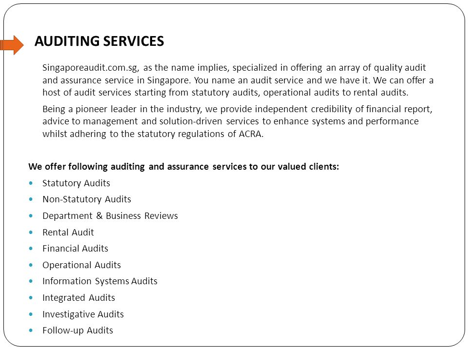 WHAT MAKES OUR AUDIT SERVICES DIFFERENT AND UNIQUE THAN OTHERS.