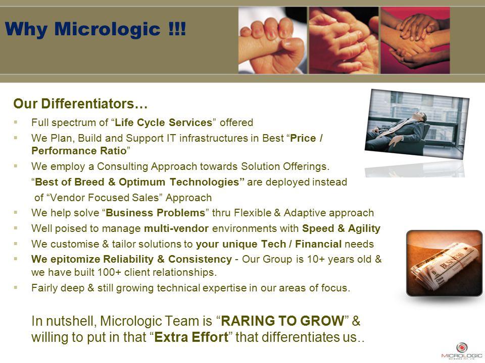 Why Micrologic !!.