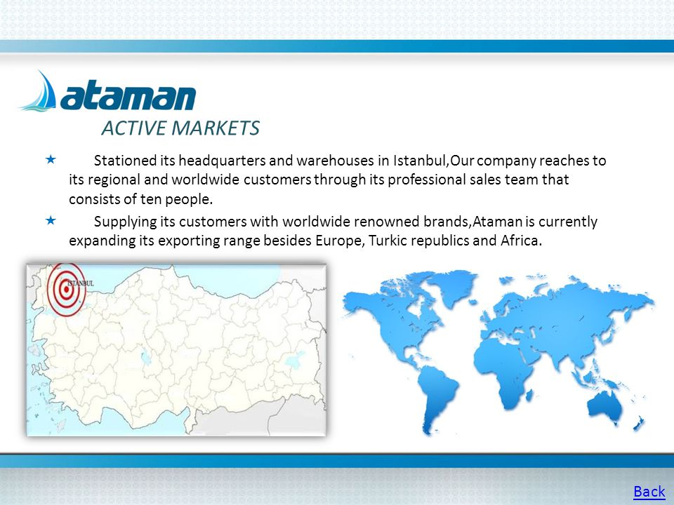 Ataman Technological Products has a product range of 200.000 items.