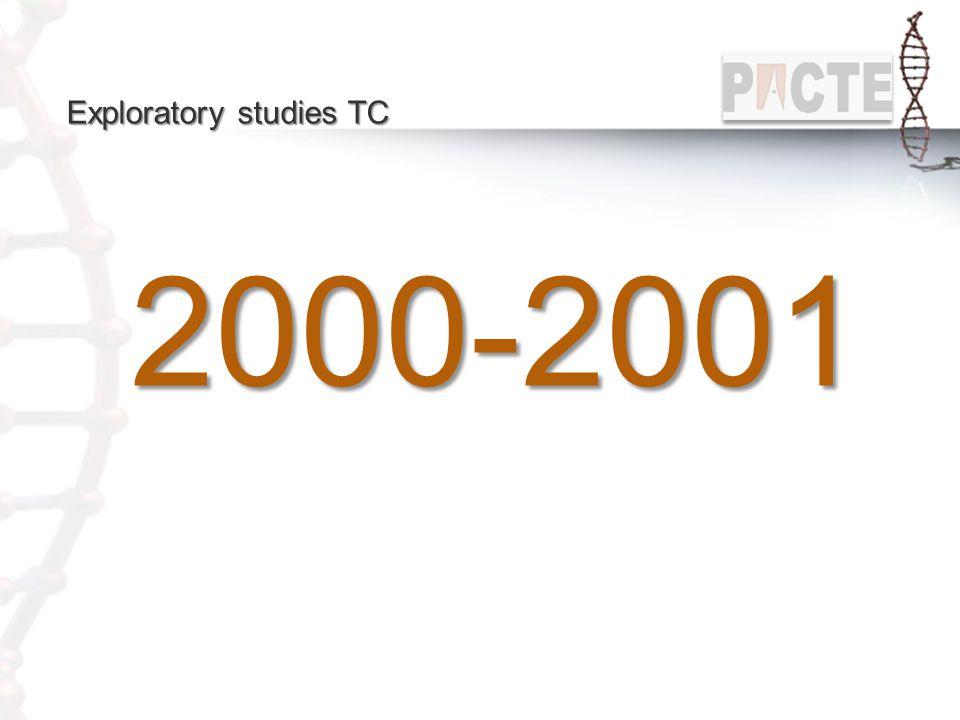 Exploratory studies TC 2000-2001