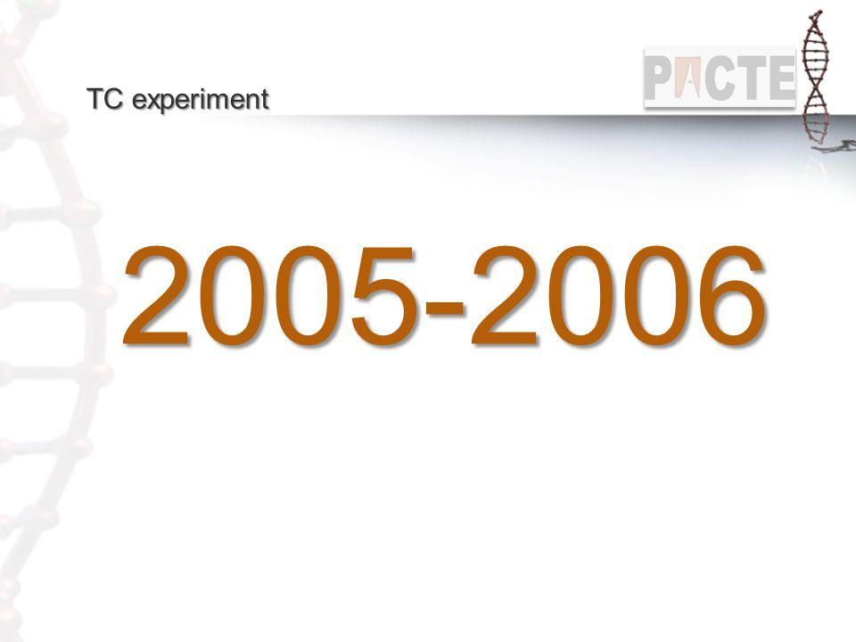 TC experiment 2005-2006