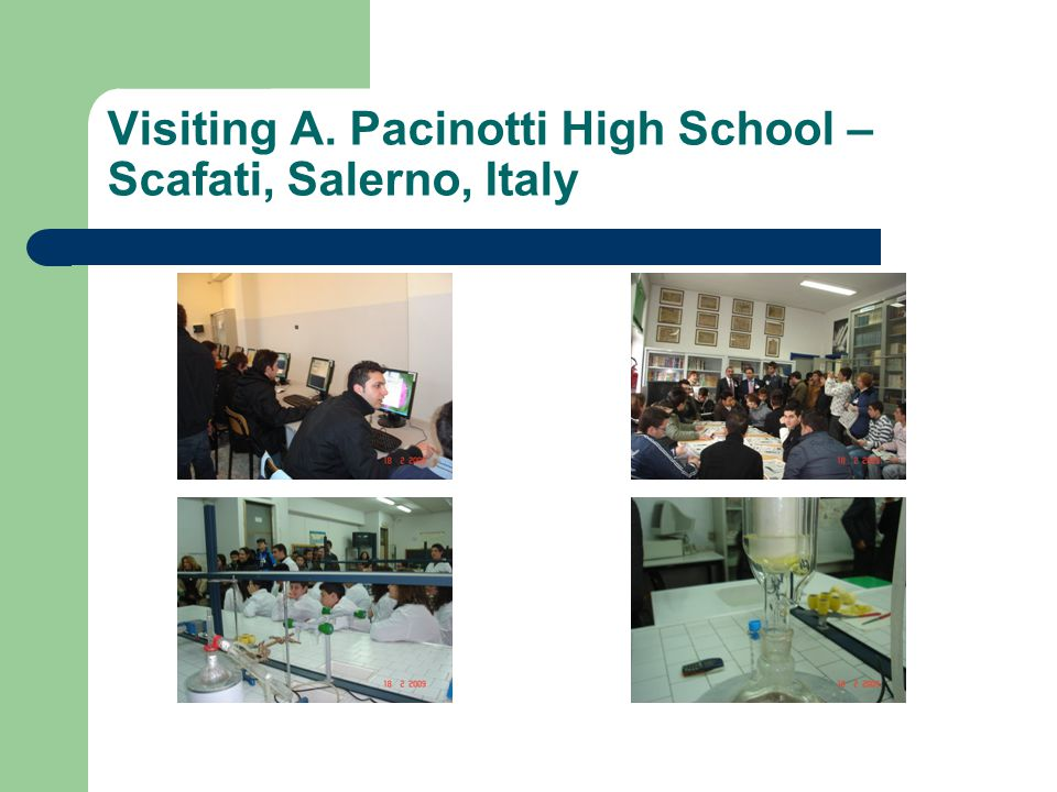 Visiting A. Pacinotti High School – Scafati, Salerno, Italy