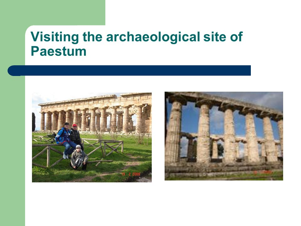 Visiting the archaeological site of Paestum