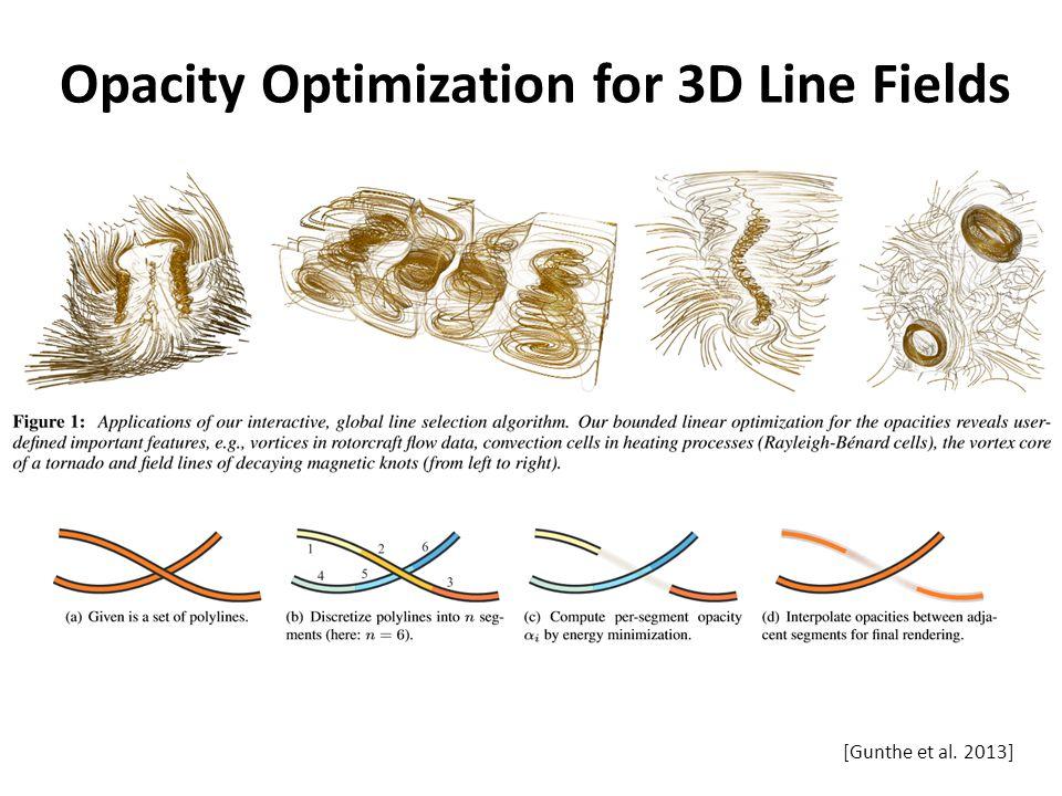 Opacity Optimization for 3D Line Fields [Gunthe et al. 2013]